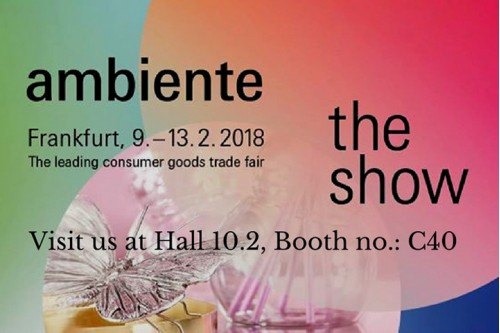 Welcome to Ambiente Fair 2018