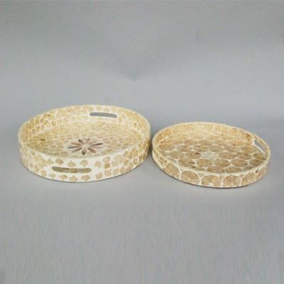Round tray set of 2